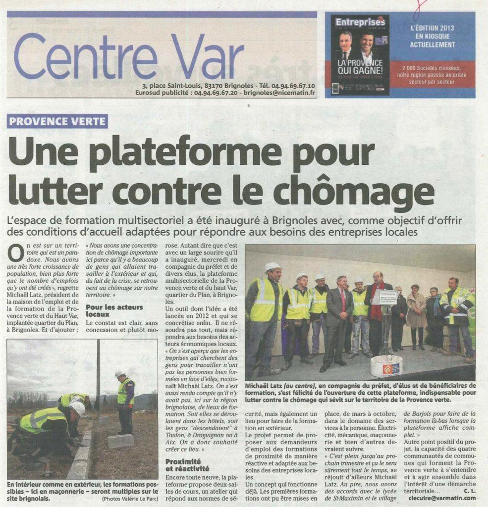 Brignoles inauguration plateforme MDE-dec2013